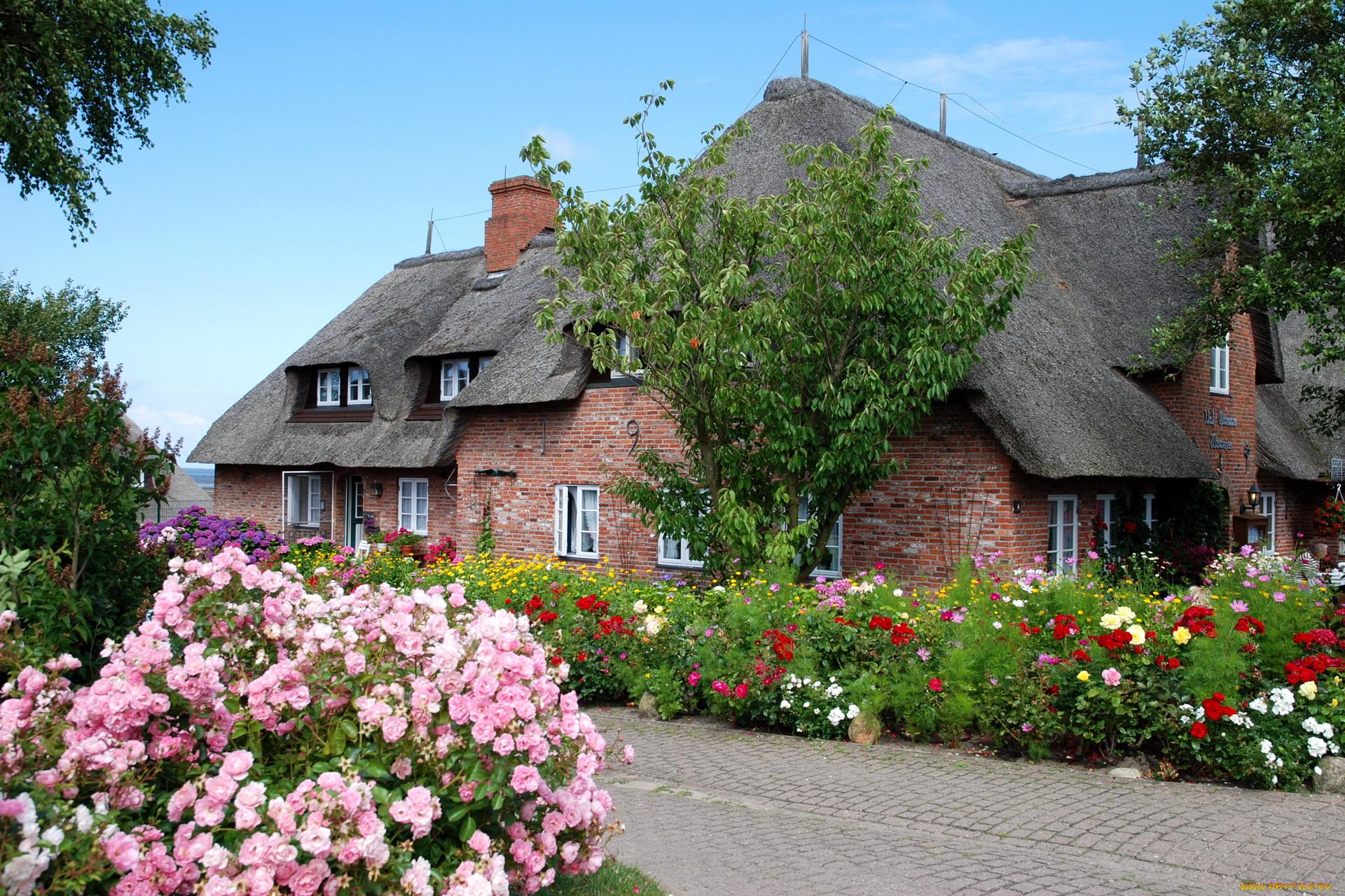 Картинки дом в цветах на рабочий стол